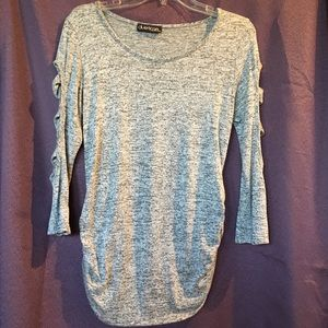 Tops - Heather Gray Knit Maternity Top